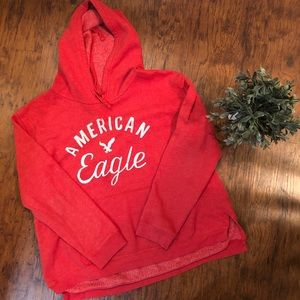 American Eagle Hoodie, Red, Size XL